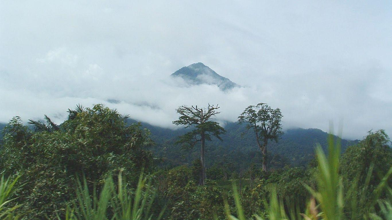 Вулкан Камерун издалека