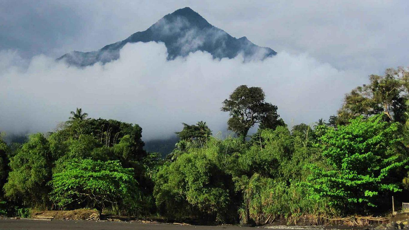 Вулкан Камерун с берега