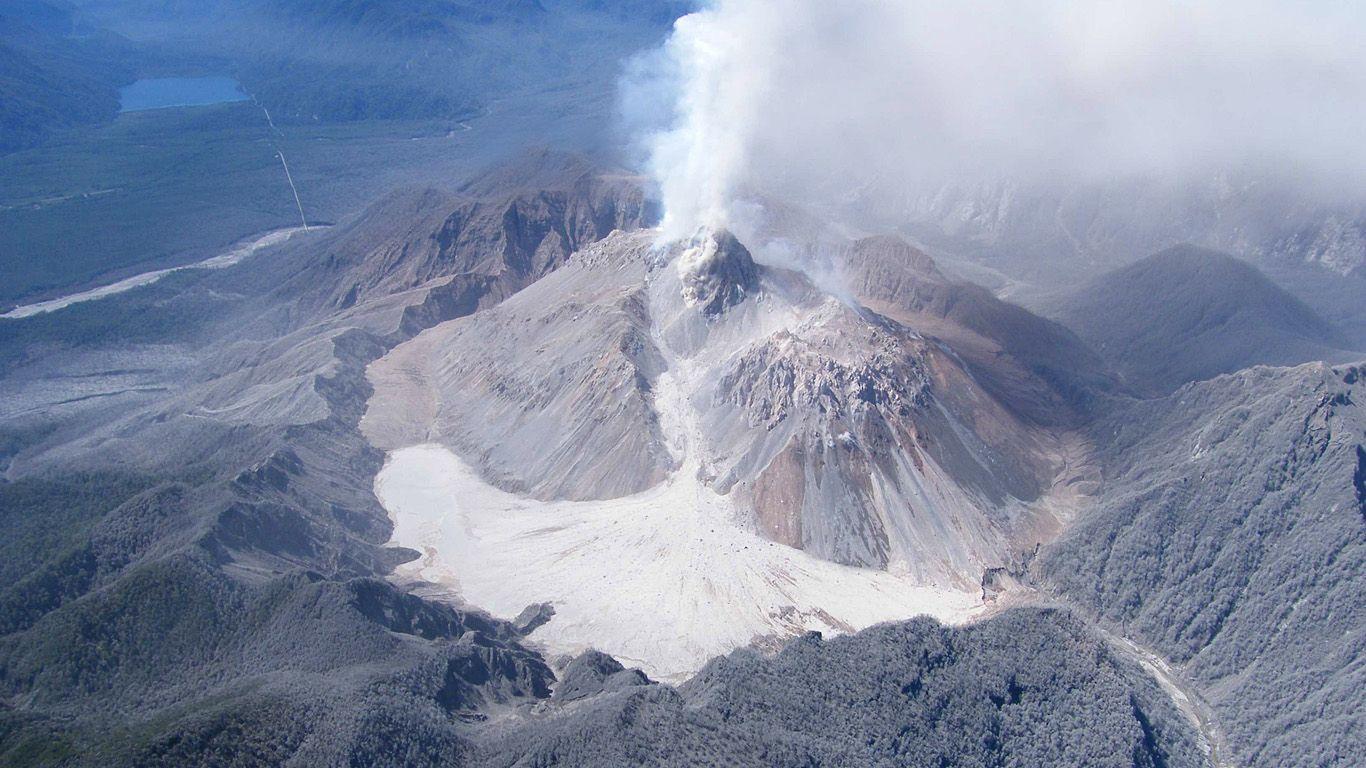 Вулкан Чайтен с высоты