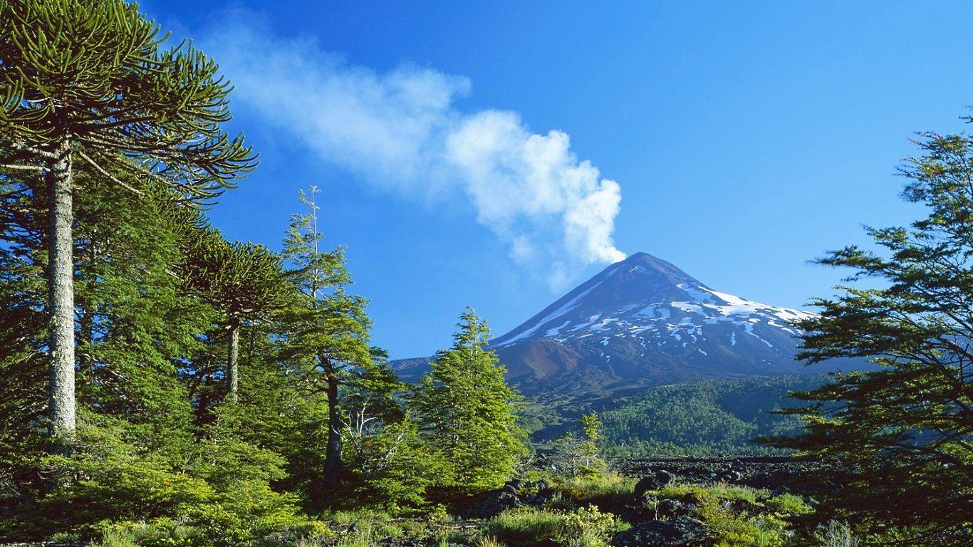 Пейзаж.Вулкан Льяйма
