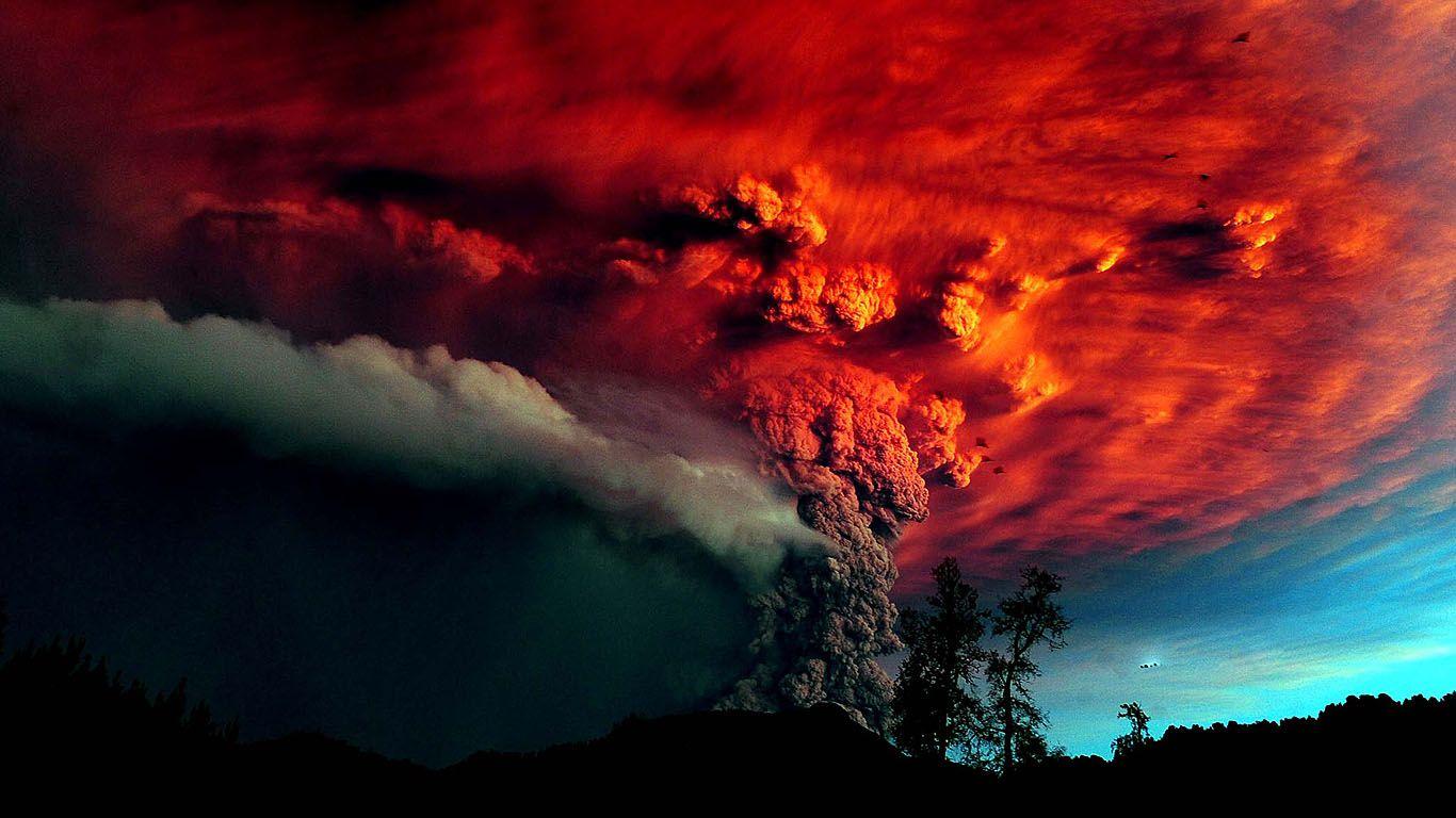 Вулкан Пуйеуэ извержение
