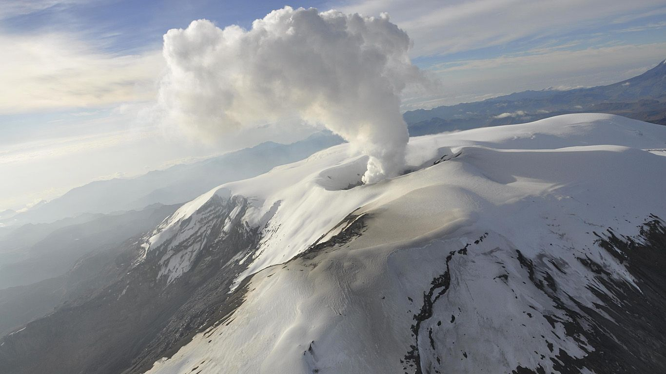 Шапка вулкана Невадо-дель-Руис