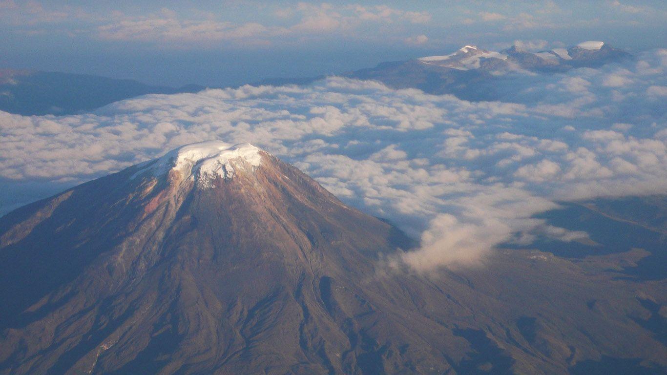 Вулкан Невадо-дель-Руис с высоты