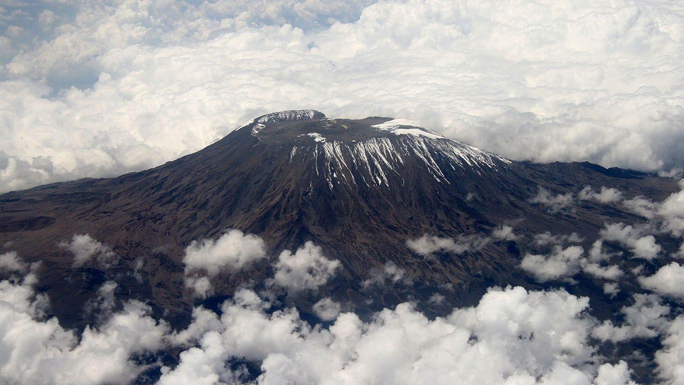 Вулкан Ньямлагира издалека