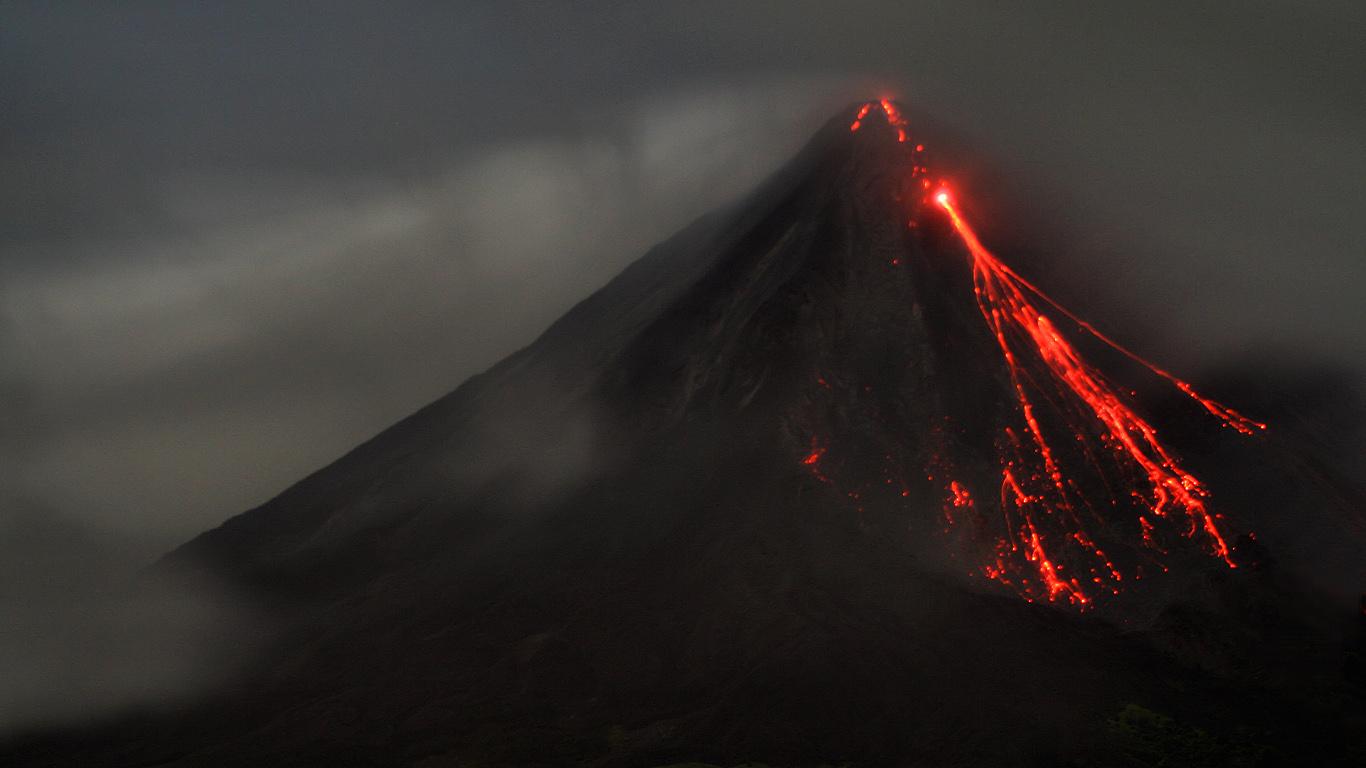 Лава.Вулкан Ареналь