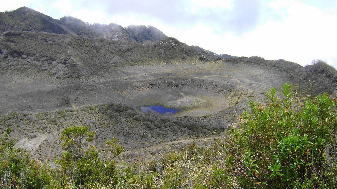 Один из старых кратеров