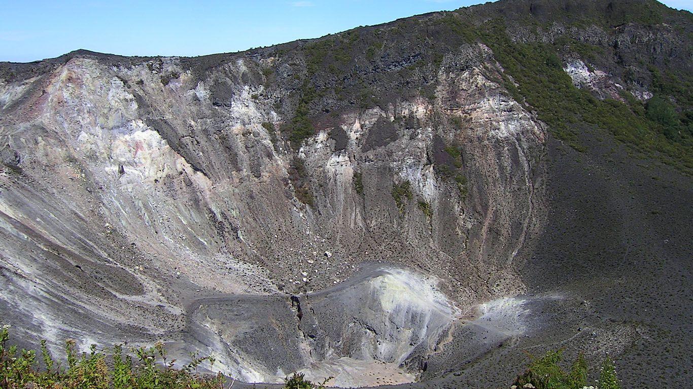 Склоны вулкана