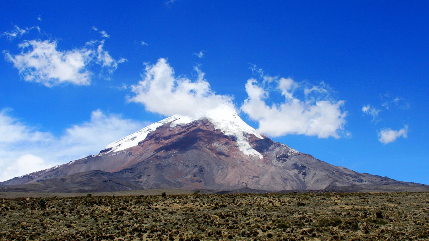 Вулкан Чимборасо издалека