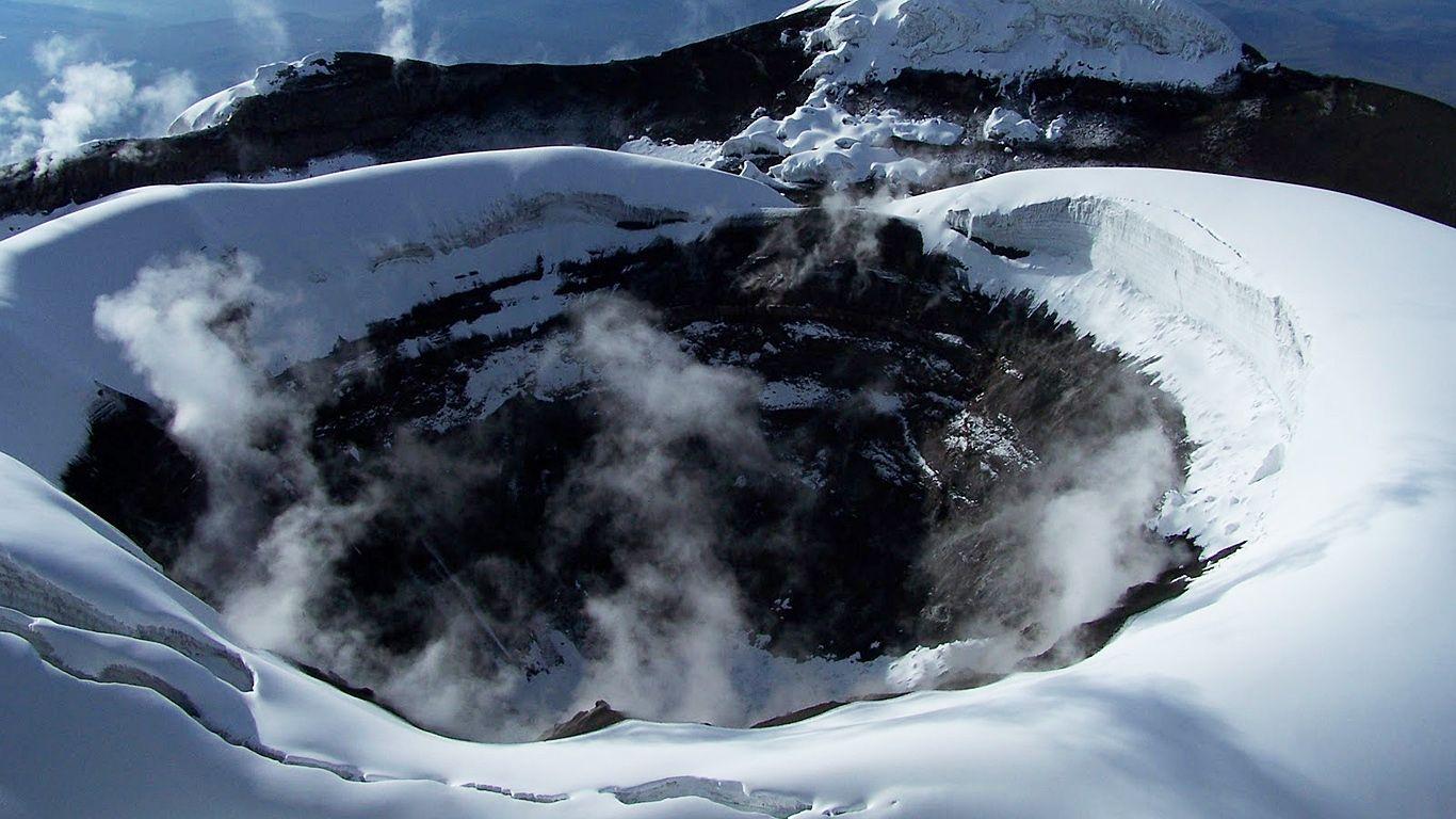Кратер.Вулкан Котопахи
