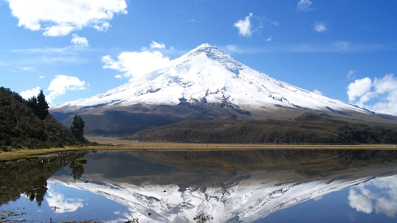 Пейзаж.Вулкан Котопахи