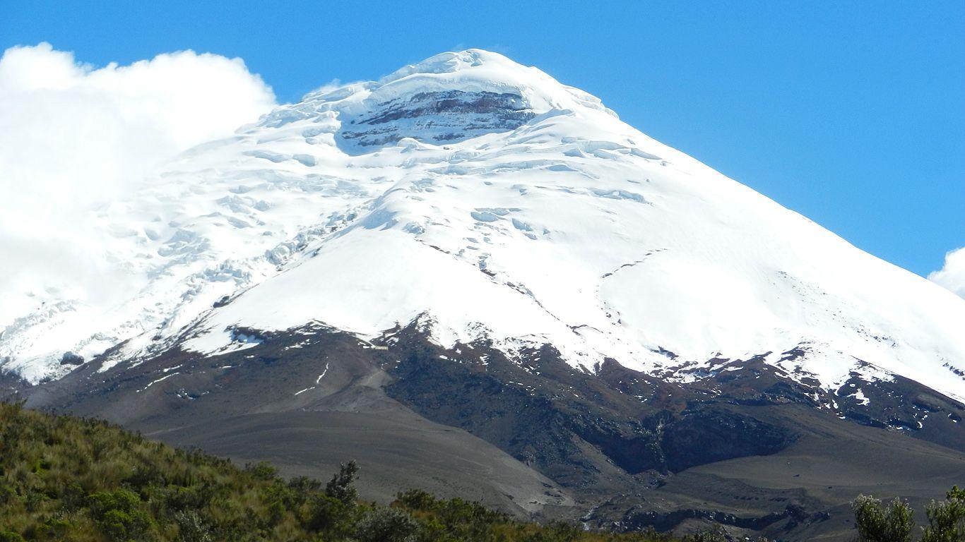 Вулкан Котопахи вблизи