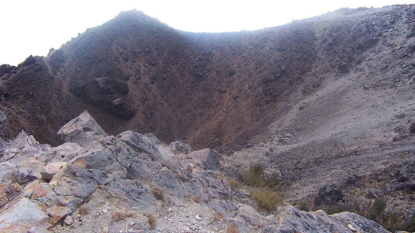 Кратер.Вулкан Тахумулько