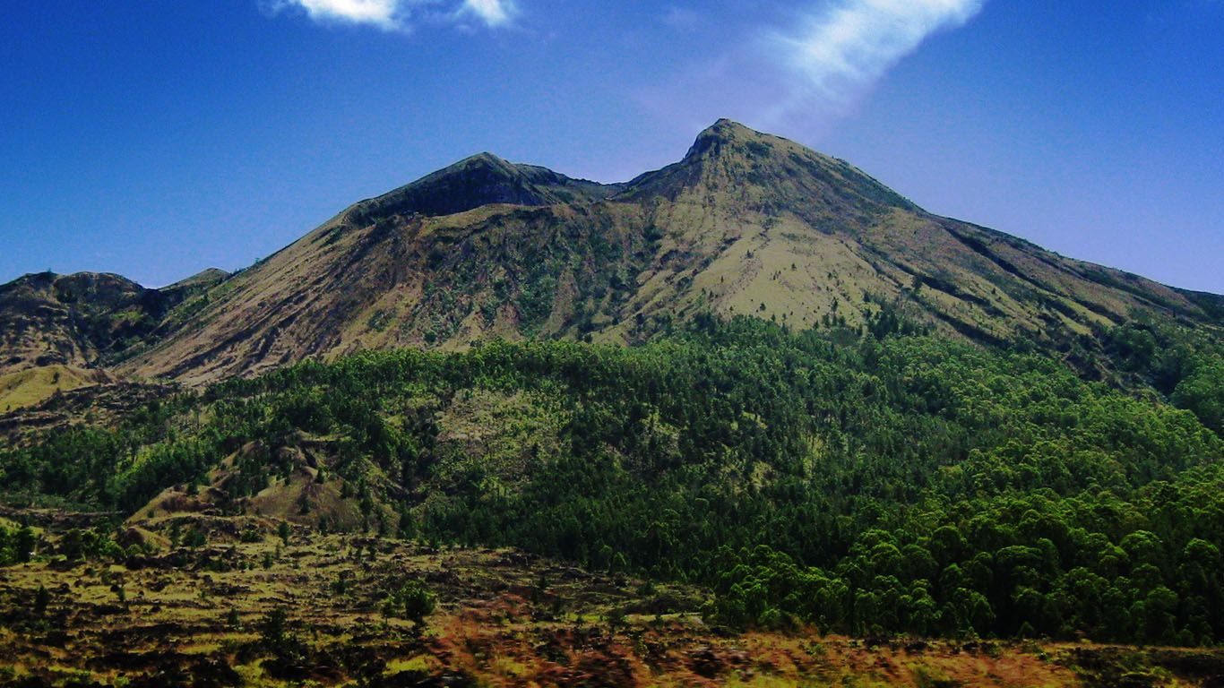 Дикий вулкан Агунг
