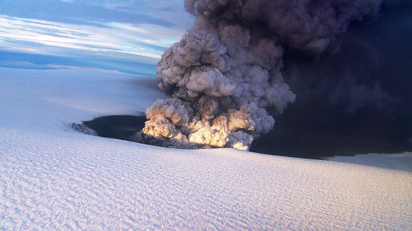 Вулкан Гримсвотн извержение