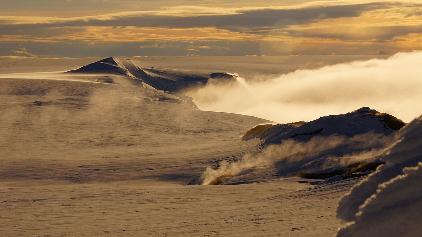 Вулкан Гримсвотн рассвет