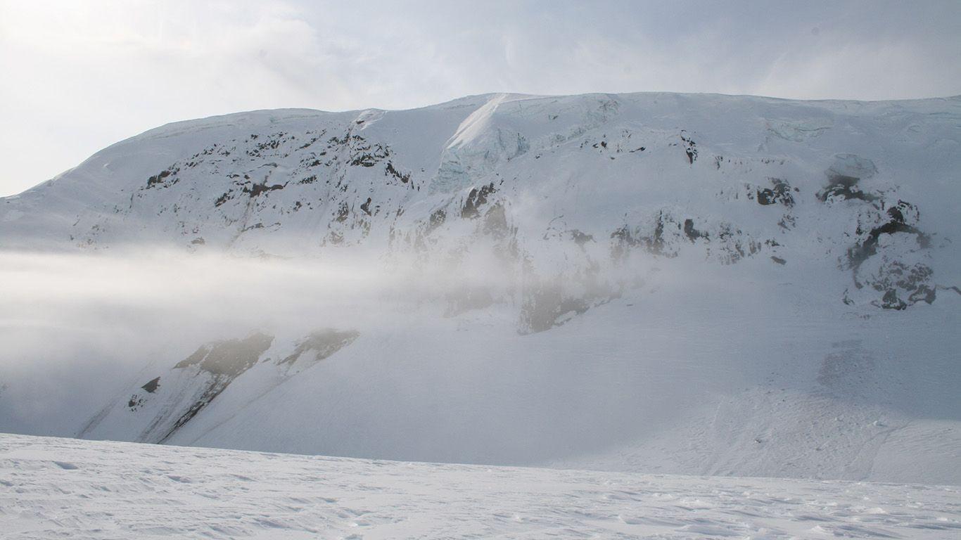 Вулкан Гримсвотн в снегу