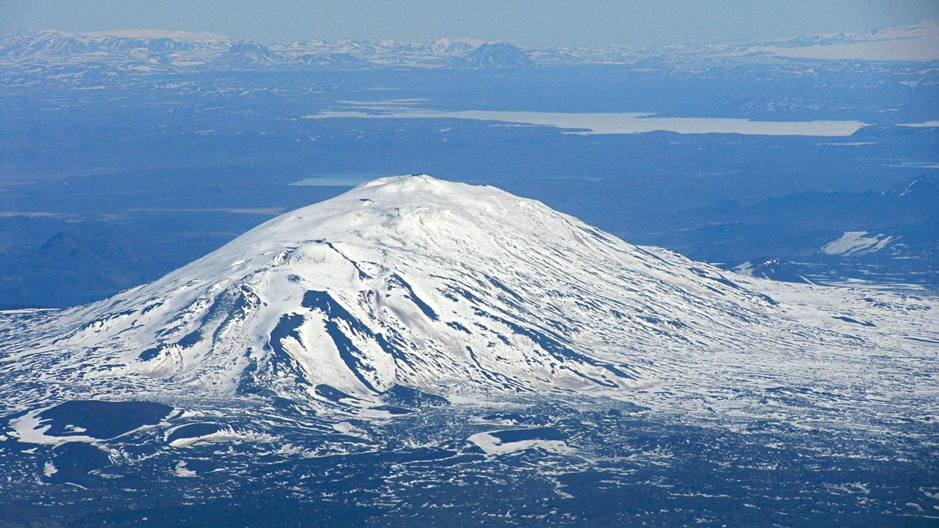 Вулкан Гекла сверху