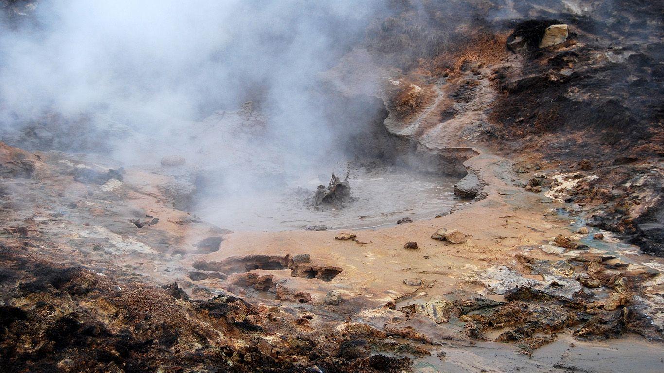 Вулканическая активность Хенгидль