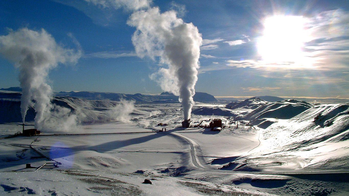 Геотермальные станции.Вулкан Крапла