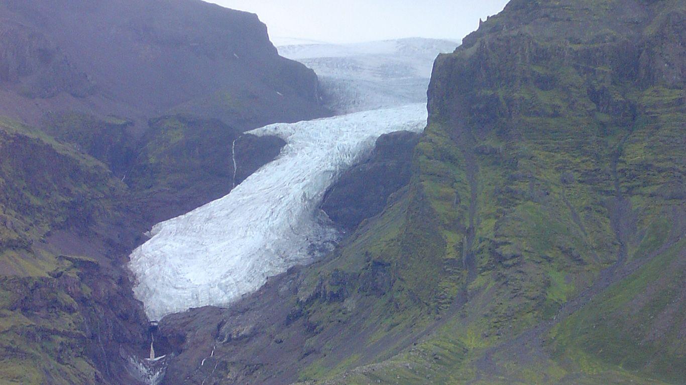 Ледник.Вулкан Эрайвайёкюдль