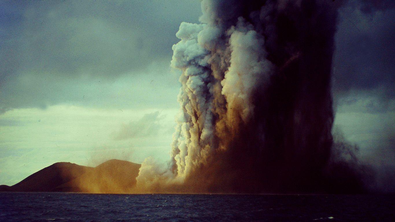 Вулкан Суртсей извержение
