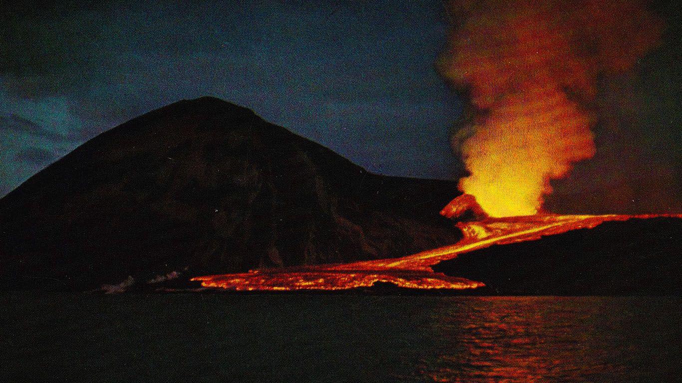 Вулкан Суртсей лава