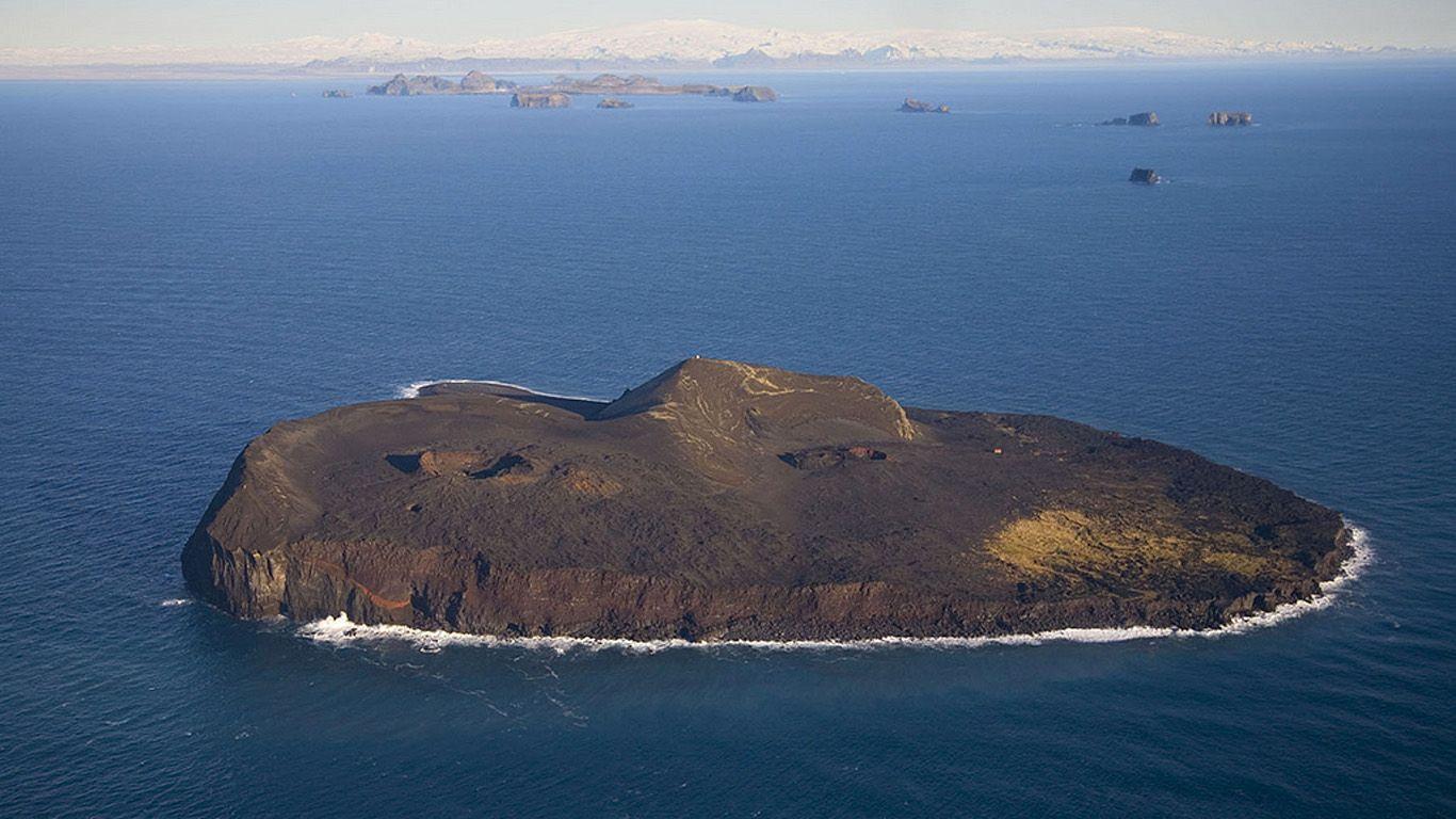 Вулкан Суртсей с высоты