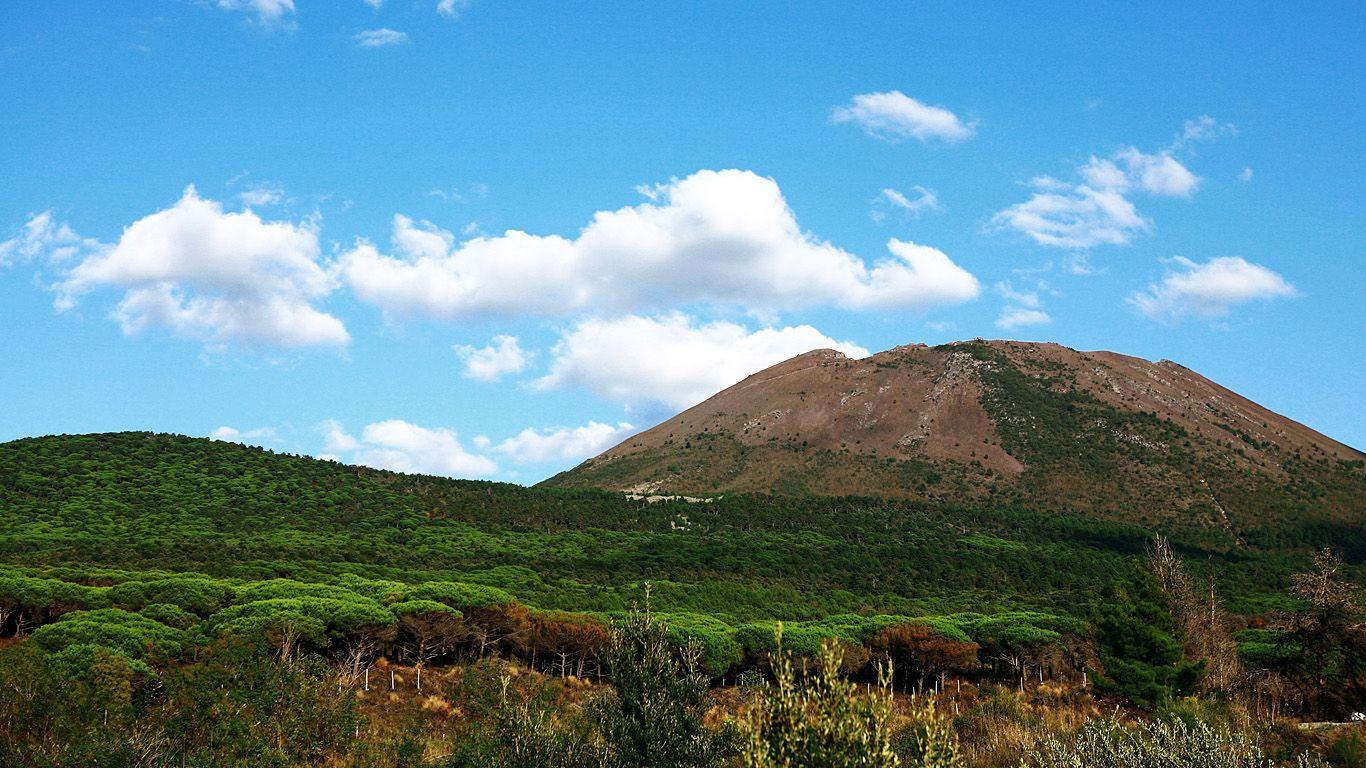Пейзаж. Вулкан Везувий