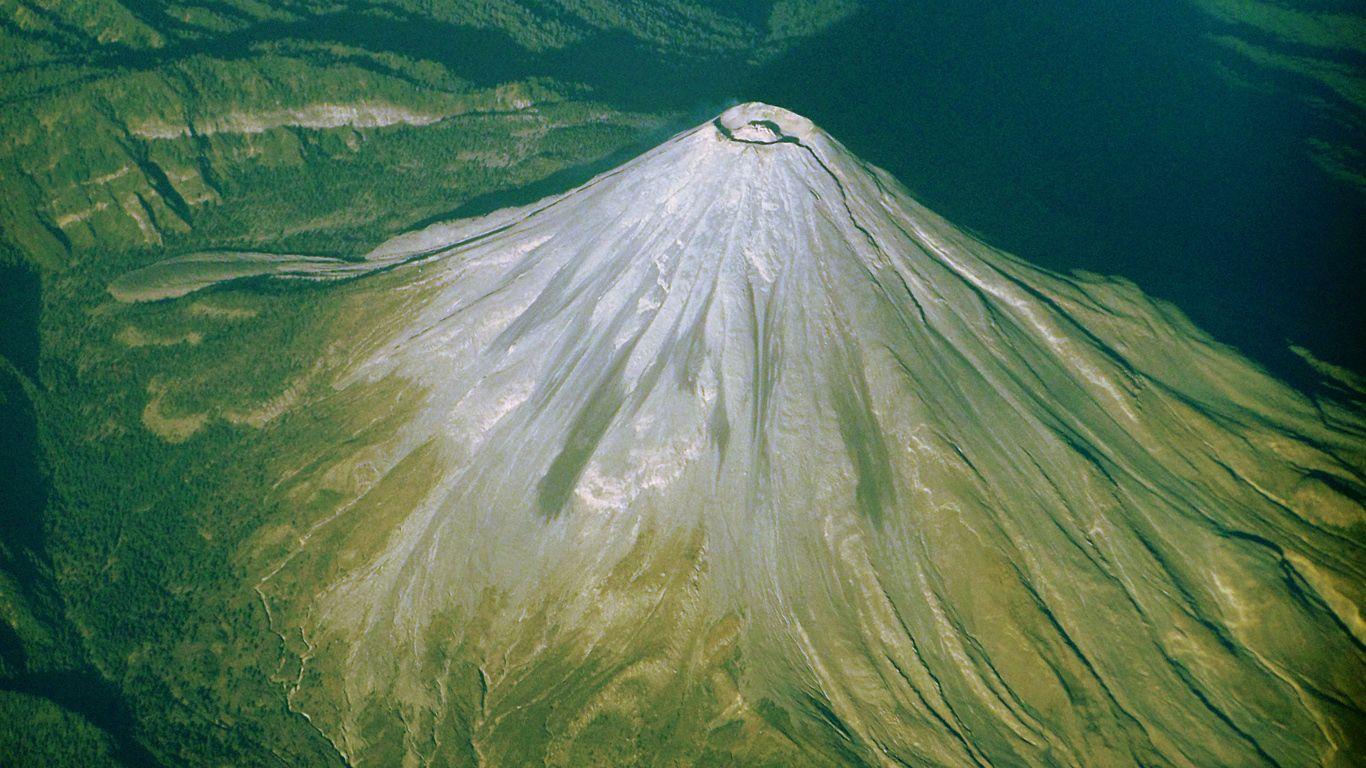 Вулкан Колима с высоты