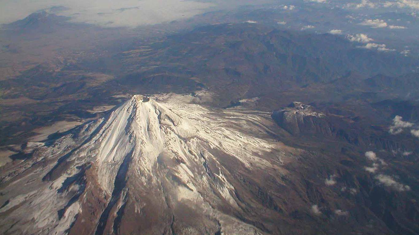 Вулкан Орисаба сверху