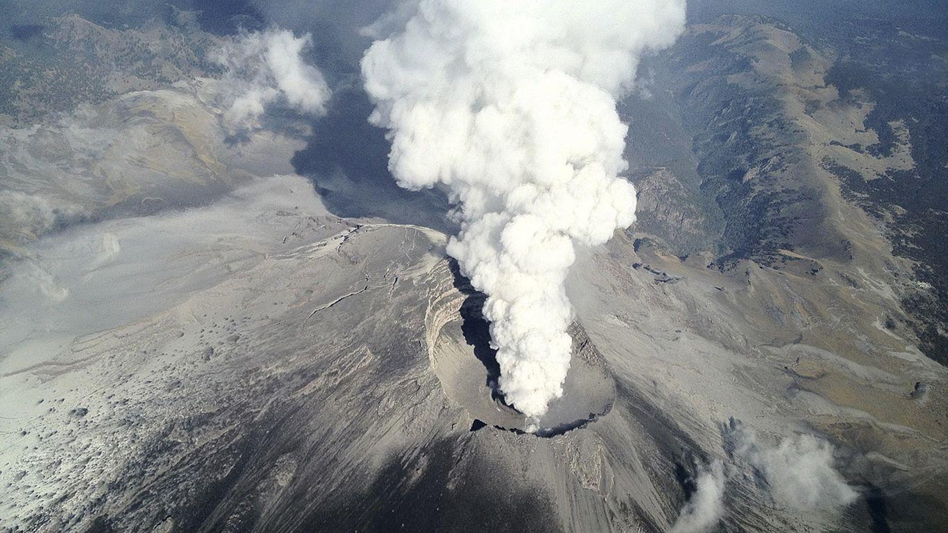 Извержение вулкана Попокатепетль