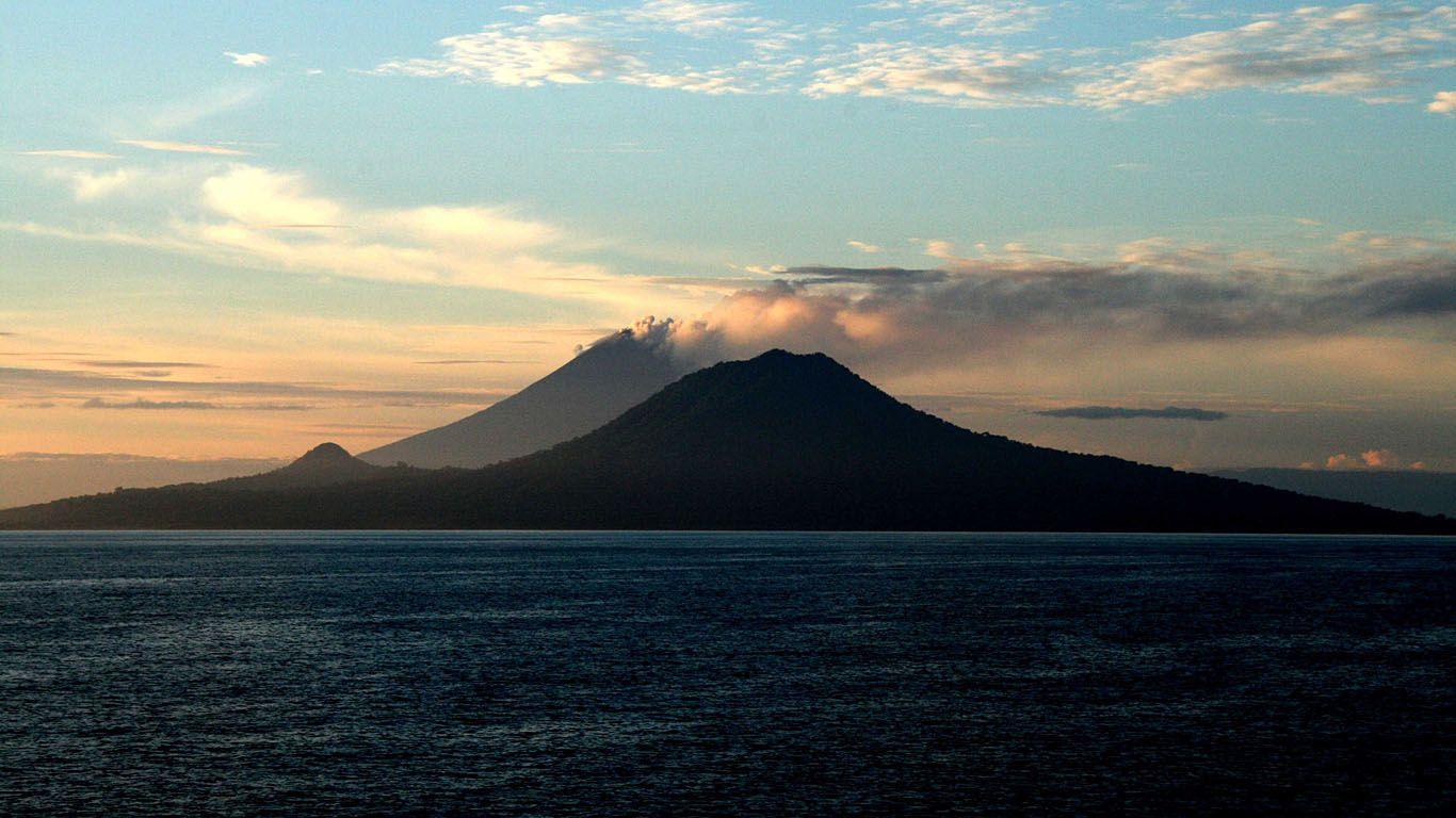 Активность вулкана Улавун