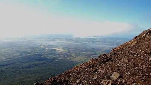 Вид с вулкана на долину