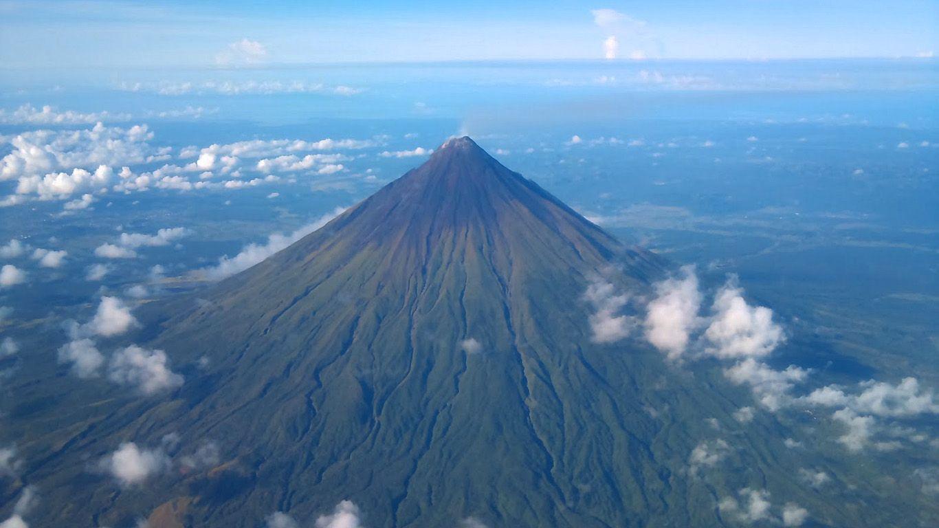 Вулкан Майон с высоты