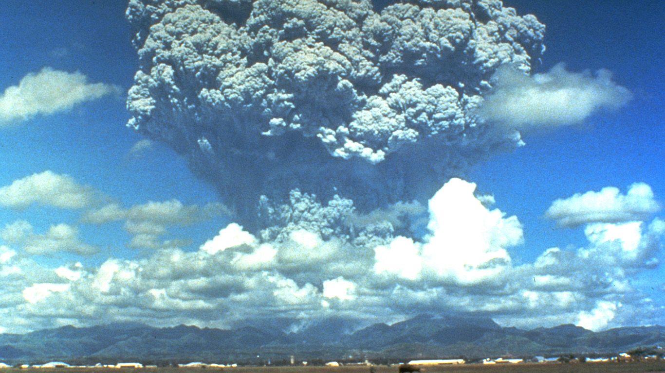 извержение вулкана Пинатубо