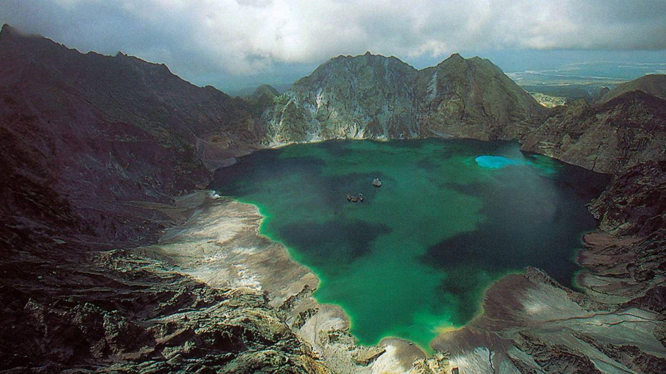 Вулкан Пинатубо сверху