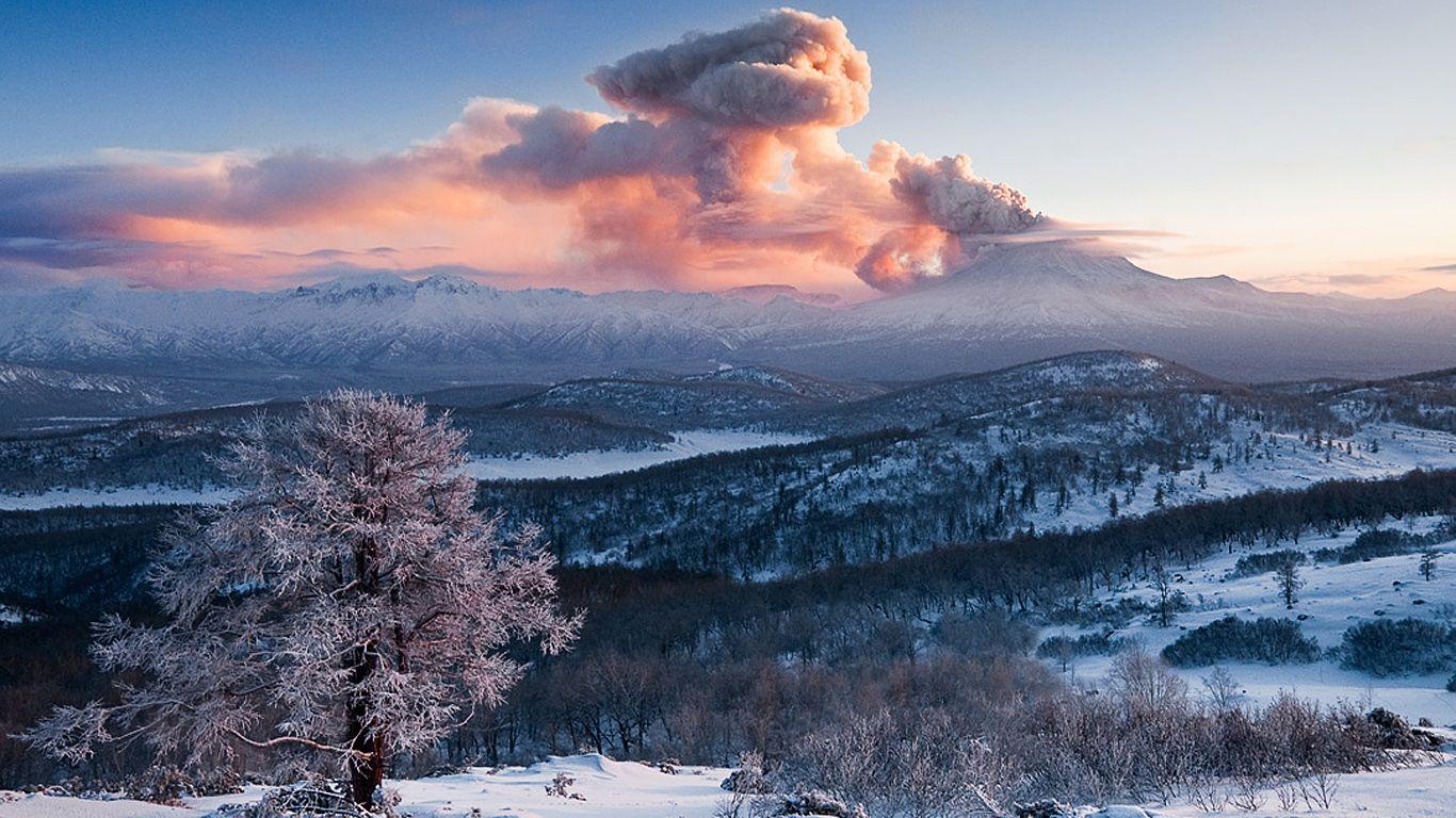 Пейзаж.Вулкан Кизимен