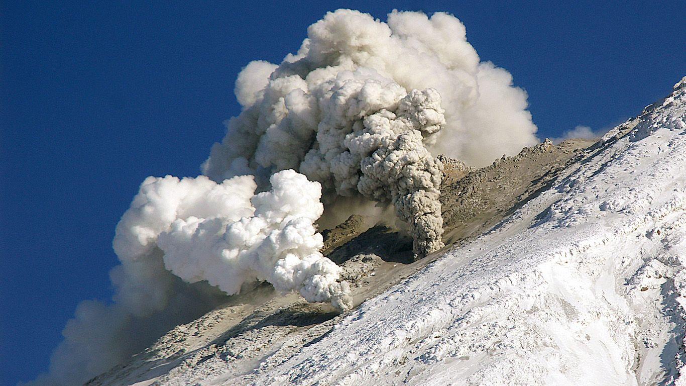 Извержение вулкана Корякский