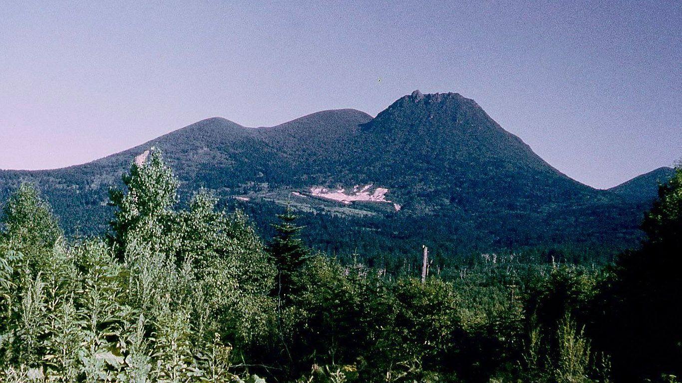 Пейзаж.Вулкан Менделеева