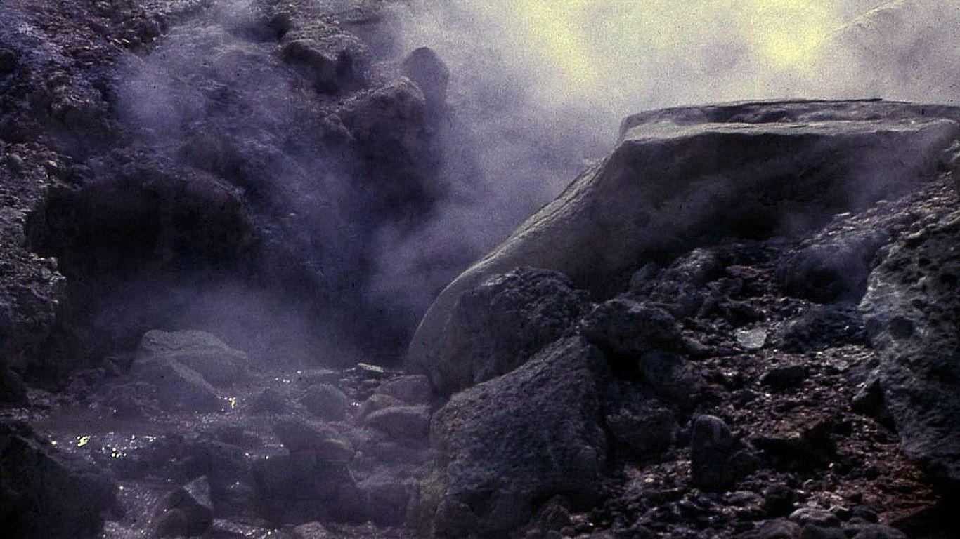 В кратере.Вулкан Менделеева