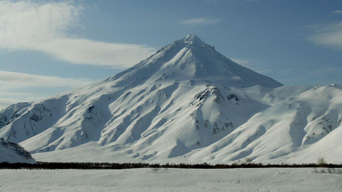Вилючинский вулкан зимой