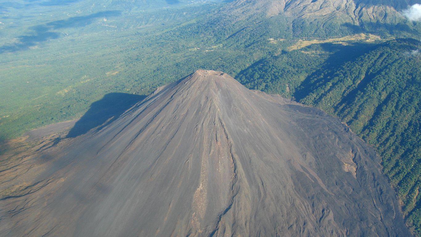 Вулкан Исалько с высоты