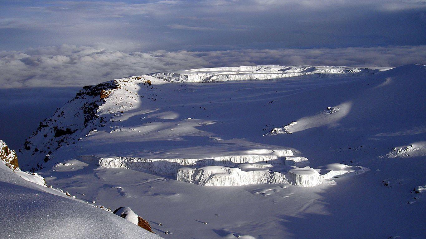 На вершине. Вулкан Килиманджаро