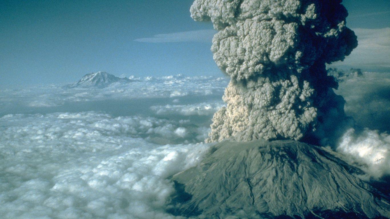 Извержение.Вулкан Сент-Хеленс
