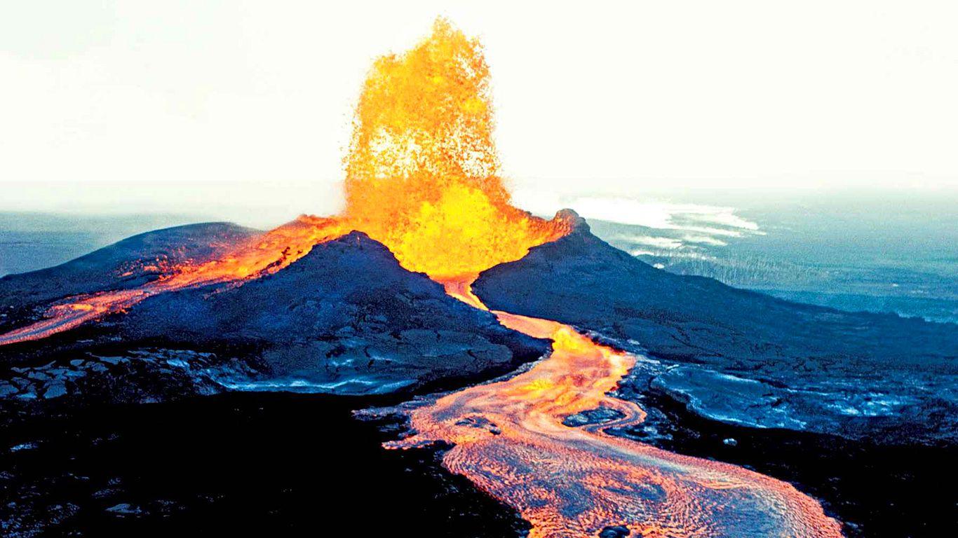 Извержение.Вулкан Килауэа