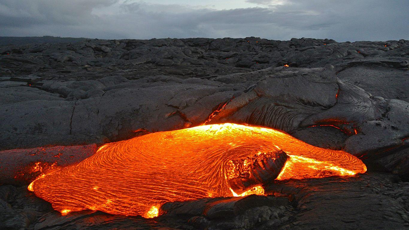 Лава.Вулкан Килауэа