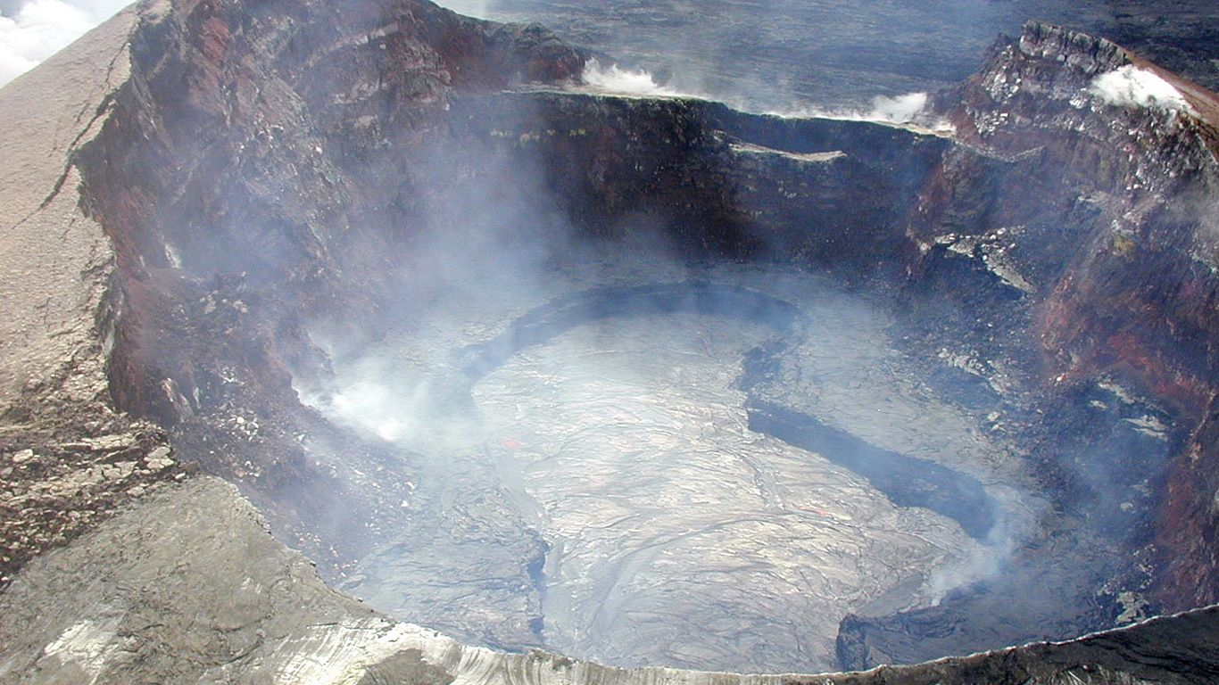 Вулкан Килауэа сверху