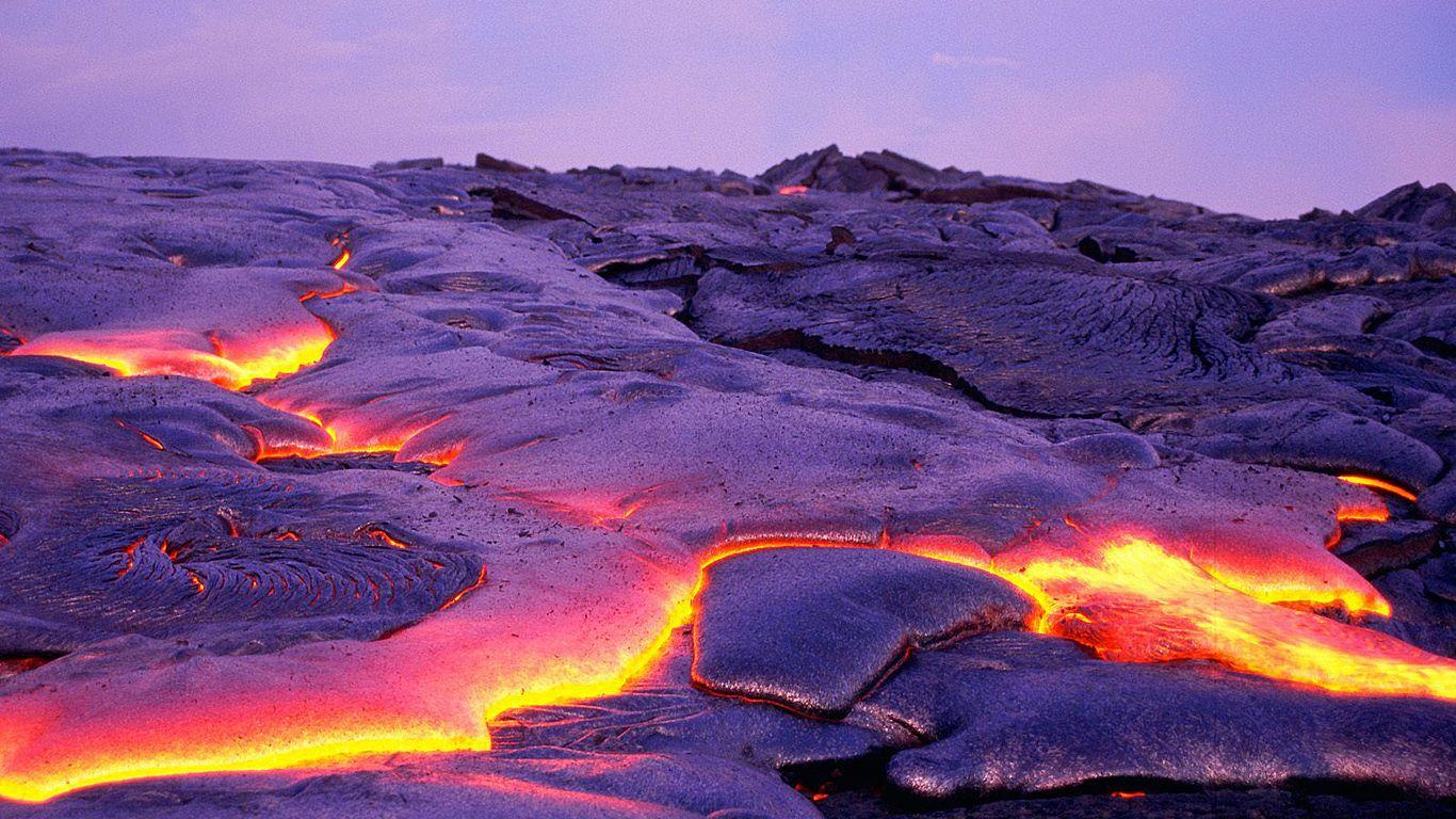 Застывшая лава.Вулкан Килауэа