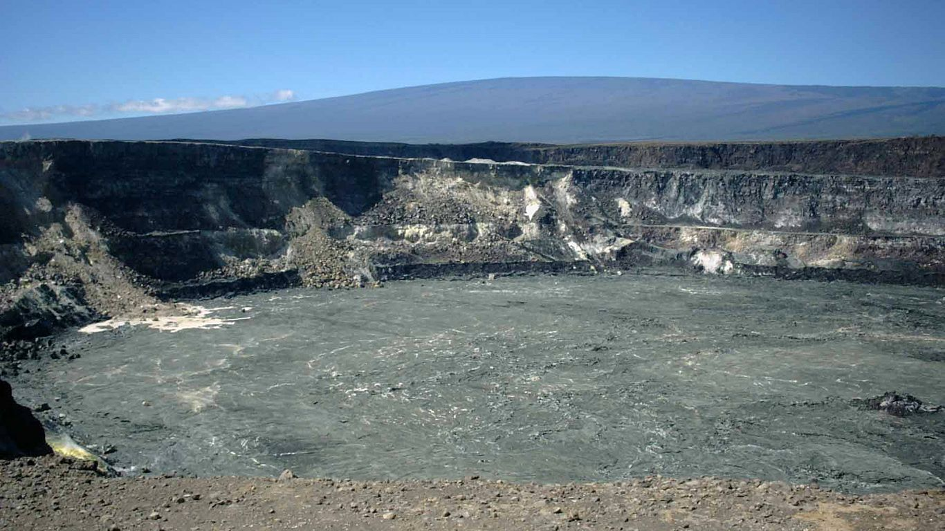 Дно вулкана Мауна-Лоа