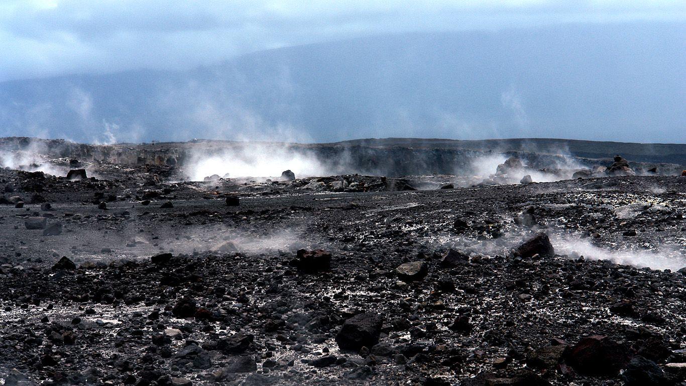 В кратере.Вулкан Мауна-Лоа